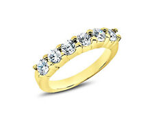 Gold Round Brilliant Cut G-H I1 Real 0.90ct Diamond Wedding Ring 10k Yellow