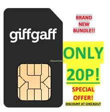 GIFFGAFF UK SIM Minutes, DATA & Text STANDARD MICRO NANO SPECIAL OFFER 20p!!