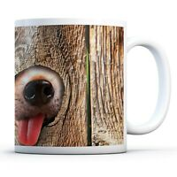 Funny Dog in the Hole - Drinks Mug Cup Kitchen Birthday Office Fun Gift #14153
