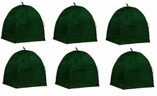 "(6) NuVue 20253 36"" x 36"" x 40"" Green Frost Proof Winter Shrub Protector Covers"