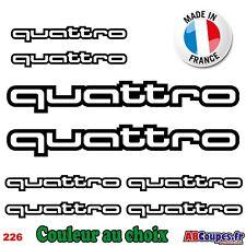 8 Stickers Autocollants Quattro - Audi A1 A2 A3 A4 A5 A6 A7 Q3 Q5 Q7 TT - 226
