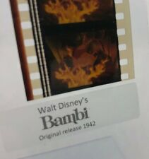 Disney Animation Authentic Film 5-Cell Strip Bambi King Stag In Forest Fire