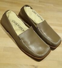 Louis Vuitton Women's Cocoa Leather and wood shoes loafers size eu 39.5 uk 6.5