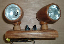 RV/Tailer 12 Volt Oak Wood Swivel Light