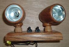 RV/Tailer 12 Volt Oak Wood Swivel Light