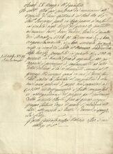 Antico Manoscritto Ottocentesco Acquisto di Beni in Appignano Macerata 1854
