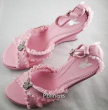Playboy sandales chaussures rose taille 3 nouveau en boîte rrp £ 75 vente £ 55 acheter maintenant!!!