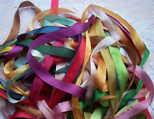 "100 %PURE SILK RIBBON  ASSORTMENT 1/2""[13MM] WIDE 25YDS"