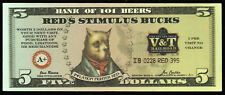 Red's Stimulus Bucks from Red's Old 395 Grill - V&T Railroad - Five Dollars
