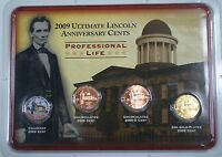 2009 P & D Professional Life Cent Coins Colorized Uncirculated 24Kt Gold Plated