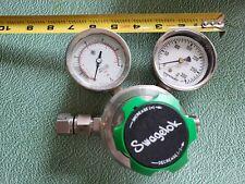 Swagelok Regulator with Gauges 100 PSI in 0-25 PSI Out