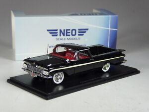 (KI-06-21) Neo Scale Models Chevrolet El Camino Negro En 1:43 IN Emb.orig