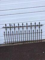 Antique Victorian Iron Garden Fence Section Architectural Salvage 5+ Feet