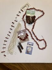 Brown Seed, Crystal And Glass Jewelry Bead Lot