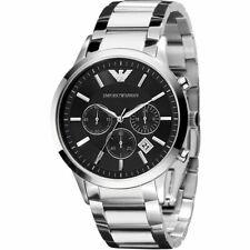 3e0d886cee26 Nuevo Emporio Armani AR2434 Negro Cronógrafo Estuche 42mm Hombre Reloj De  Moda