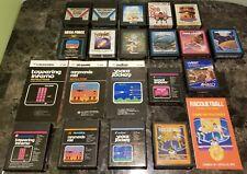 (17) Atari 2600 Game & (4) Manual Lot