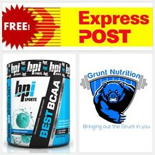 BPI Sports Best BCAA Blue Raspberry Flavour 30 Serves Promotes Strength & Muscle