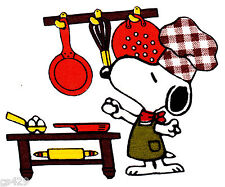 "3.5"" Snoopy chef cook kitchen set fabric applique iron on character"