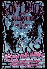 MINT Gov't Mule Wolfmother 2006 Brooklyn Biffle Poster