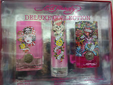ED HARDY DELUXE COLLECTION 3 PCS GIFT SET FOR WOMEN EDP 3 X 1.0 OZ NEW GIFT BOX