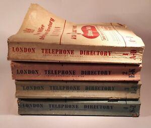 Rare/ HTF 1950s/ 1953 GPO London Telephone Directory x 4 Vols. Props/ Phone