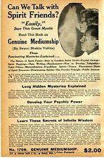 1941 small Print Ad of Genuine Mediumship Swami Bhakta Vishita spirit friends