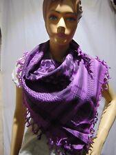 Scarf Arab Shemagh Desert Heavyweight purple star Solid Kafiya Fashion