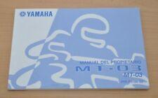 YAMAHA MT-03 Manual del Propietario Spanisch Bedienungsanleitung Motor Motorrad
