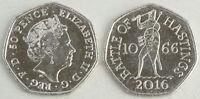Großbritannien / Great Britain 50 Pence 2016 Schlacht von Hastings 1066 unz.