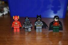 LEGO Super Heroes Lot MiniFigures Flash Batman Robin DC Minifigs