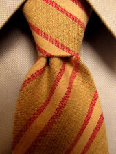 Mens Lanvin Brown Striped Silk Tie A3660
