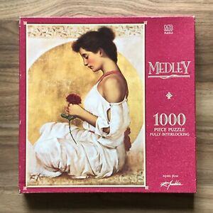 Milton Bradley MYSTIC ROSE 1000 Pieces Jigsaw Puzzle