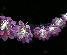 Battery Flower Wedding Luau Tiki Girls Room Fiber Optic Lights Outdoor or IN