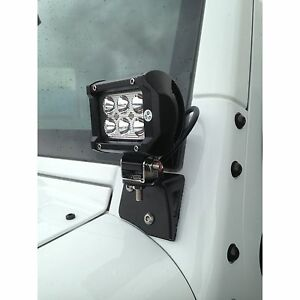 A-Pillar LED Pod Light Mount Brackets for 2007-2016 Jeep Wrangler