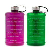 2.2L Water Bottle Time Tracker Drink Motivational Encouragement Sports Travel
