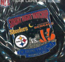 Pittsburgh Steelers NFL football pin - Game vs Cincinnati Bengals 2013 USA badge