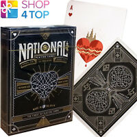 NATIONAL THEORY 11 LUXURY PLAYING CARDS DECK BLACK GOLD MAGIC TRICKS SEALED NEW
