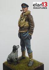 Elan13 Miniatures RAF Pilot WW2 with dog 1/24 (75mm) Airfix, Trumpeter