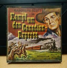 "Revue Film Super 8 Stummfilm *Randolph Scott ""Kampf um den Canadian Express"""