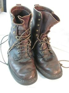 White's Handmade Work Men's Size 8 ~8 1/2 EE D  Leather Boots USA