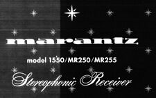 MARANTZ 1550 MR250 MR255 STEREOPHONIC RECEIVER SERVICE MANUAL BOOK IN ENGLISH