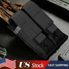 Tactical Molle Black Double Pistol Magazine Pouch Case Holder for 1911 Glock 9mm