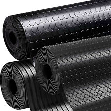 Black Anti Slip Shed Van Garage Workshop Rubber Flooring Matting Roll 1.5m x 3mm
