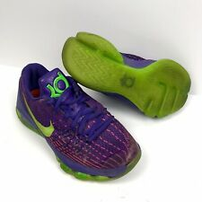 """Nike KD 8 (GS) """"Suit"""" Youth Purple/Green Basketball Shoes Sz 4Y 768867-535 RARE"""