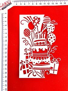 Celebration Die Cuts 3x Birthday Cake Balloons Gifts Party Candles Card Topper