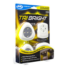 JML Tri Bright Remote Controlled LED Spotlights Stick Anywhere Dimmer Timer