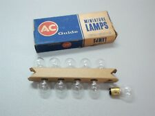 NOS Box of 10 AC Guide L1154 Lamp Bulbs 6 Volt USA Made Light OEM 21/3C.P.