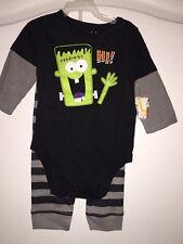 NEW WT Garanimals 2 Pc Baby Boy/ 6-9M Halloween Top And Pants Frankenstein