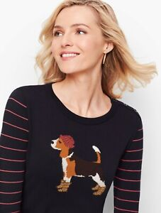NWT Talbots Navy Beagle sweater in Size 1X