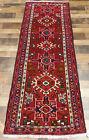 "2'6""x6'7"" Authentic Fine Handmade wool Herizz Karajeh Oriental area rug runner"